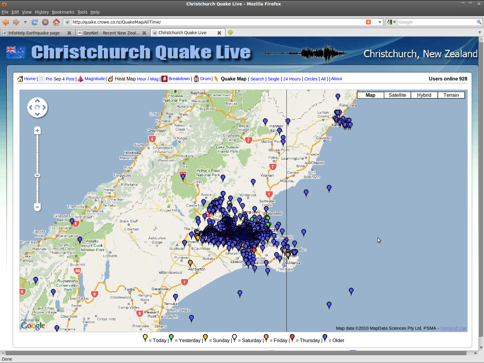 infohelp earthquake  stay or utilize moving companies  page - crowe quakemap alltime