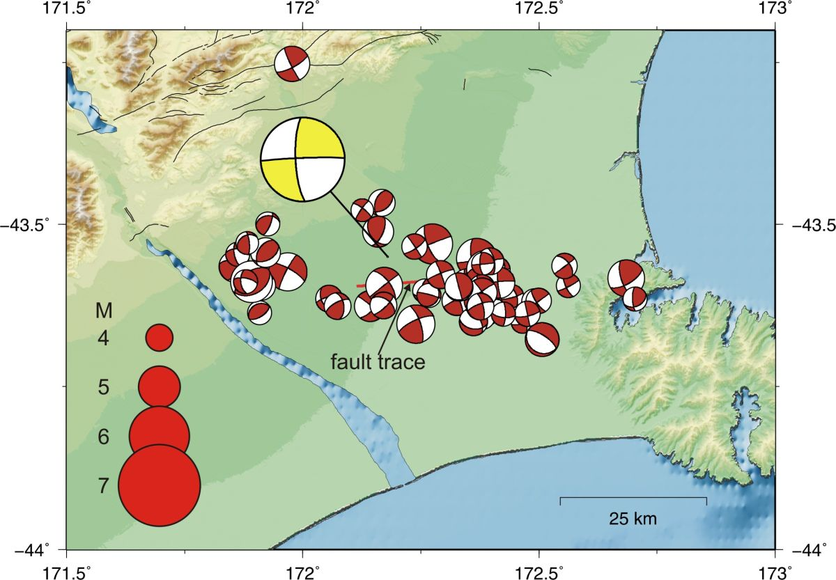 GNS 'Focal mechanisms for the Darfield earthquake and some of its aftershocks'